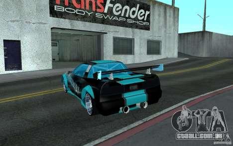 Baby blue Infernus para GTA San Andreas esquerda vista