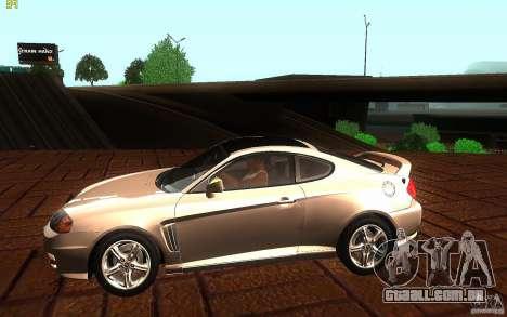 Hyundai Tiburon V6 Coupe 2003 para GTA San Andreas esquerda vista
