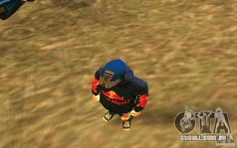 Red Bull Clothes v1.0 para GTA San Andreas terceira tela