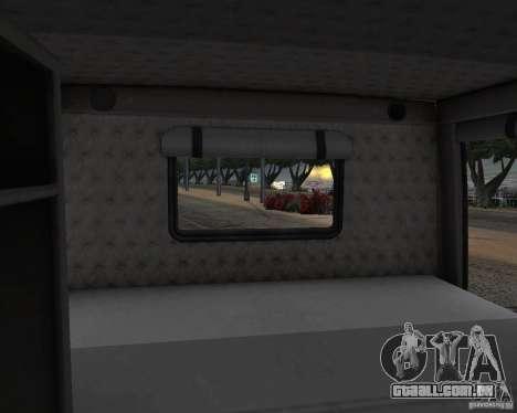 Western Star 4900 EX para GTA San Andreas vista interior