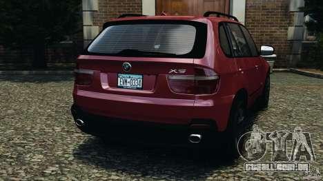 BMW X5 xDrive30i para GTA 4 traseira esquerda vista