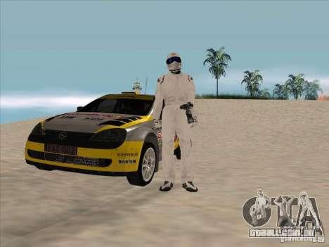 Opel Rally Car para GTA San Andreas vista traseira