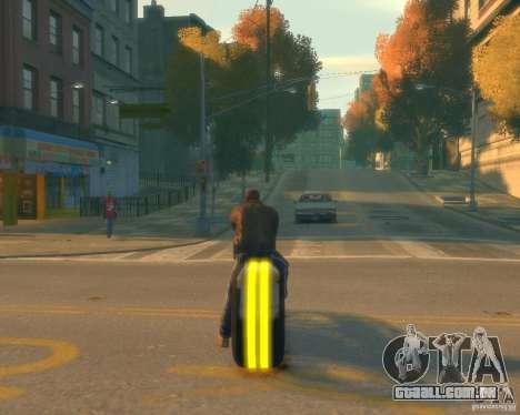 Motocicleta do trono (amarelo neon) para GTA 4 traseira esquerda vista