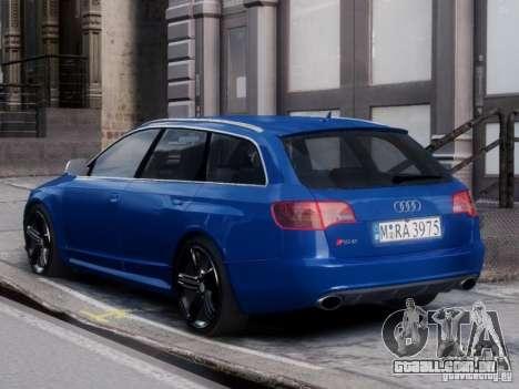 Audi RS6 Avant para GTA 4 esquerda vista