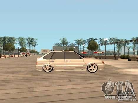 BESTA ВАЗ 2114 para GTA San Andreas esquerda vista