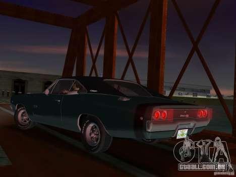 Dodge Charger 426 R/T 1968 v1.0 para GTA Vice City vista direita