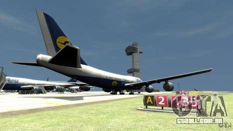 Lufthansa Airplanes para GTA 4 traseira esquerda vista