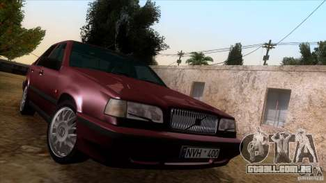 Volvo 850 Final Version para GTA San Andreas vista interior