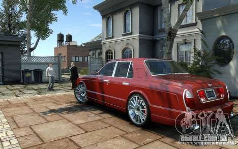 Bentley Arnage T para GTA 4 traseira esquerda vista