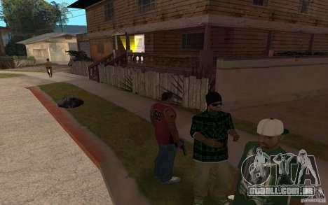 Grove Street Skin Pack para GTA San Andreas quinto tela