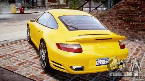 Porsche 911 (997) Turbo v1.0 para GTA 4 traseira esquerda vista