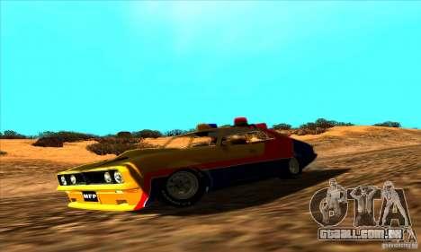 Ford Falcon 351 GT Interceptor Mad Max para GTA San Andreas vista direita