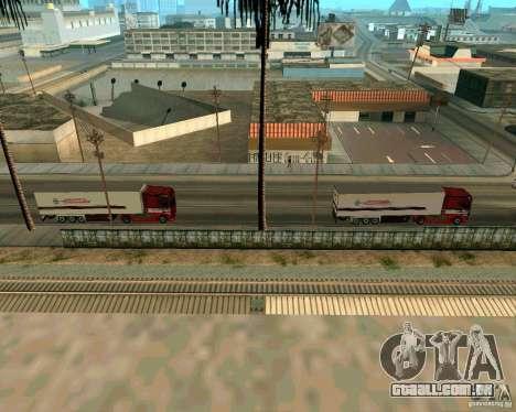 Scania TopLine para GTA San Andreas traseira esquerda vista