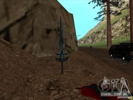 Frostmorn-espada de WoW Lich King para GTA San Andreas terceira tela