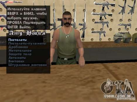 Russian Ammu-nation para GTA San Andreas sétima tela