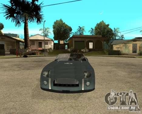 Ford Cobra Concept para GTA San Andreas vista traseira