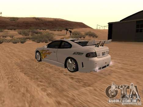 Vauxhall Monaro para o motor de GTA San Andreas