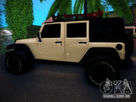 Jeep Wrangler 4x4 para GTA San Andreas esquerda vista