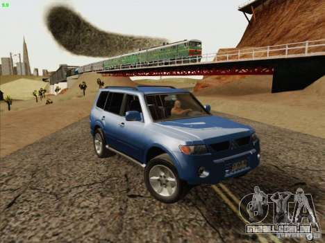 Mitsubishi Montero para GTA San Andreas vista traseira