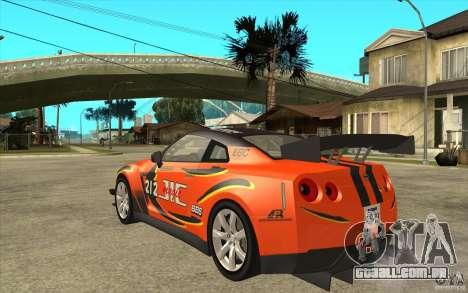 Nissan GT R Shift 2 Edition para GTA San Andreas vista direita