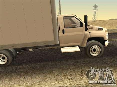 GMC 5500 2001 para GTA San Andreas esquerda vista