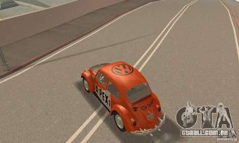 Volkswagen Beetle 1963 para o motor de GTA San Andreas