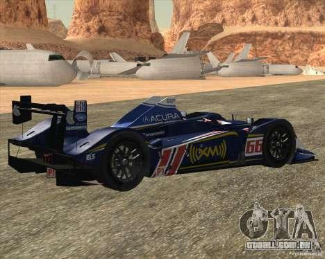 Acura ARX LMP1 para GTA San Andreas traseira esquerda vista