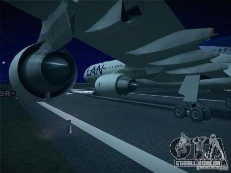 Airbus A340-600 LAN Airlines para GTA San Andreas vista direita