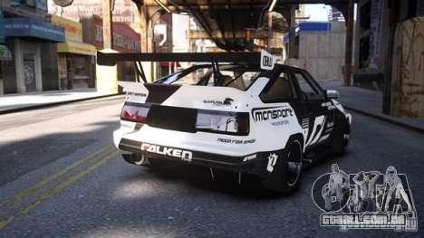 Toyota Corolla GT-S AE86 EPM para GTA 4 esquerda vista