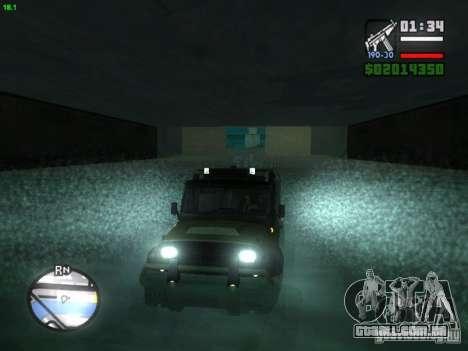 UAZ Hunter para GTA San Andreas traseira esquerda vista