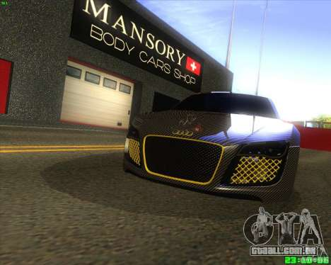 Audi R8 Mansory para GTA San Andreas esquerda vista