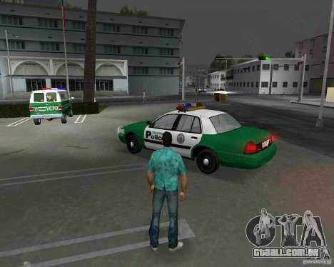 Ford Crown Victoria 2003 Police para GTA Vice City vista traseira esquerda