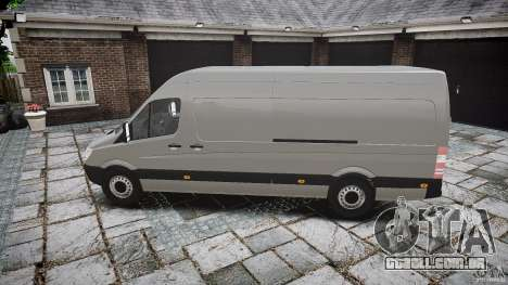 Mercedes Benz Sprinter Long Version para GTA 4 esquerda vista