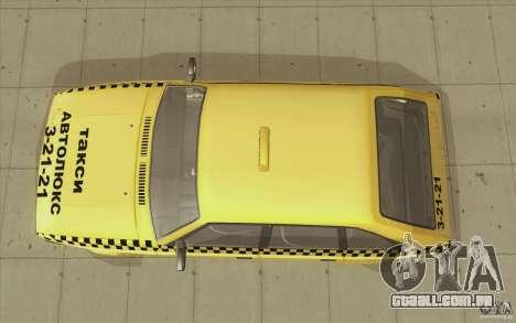 AZLK Moskvich 2141 táxi v2 para GTA San Andreas vista direita