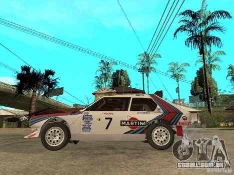 Lancia Delta S4 Martini Racing para GTA San Andreas esquerda vista