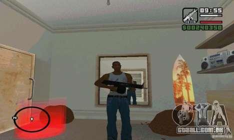 A shotgun AA-12 para GTA San Andreas por diante tela