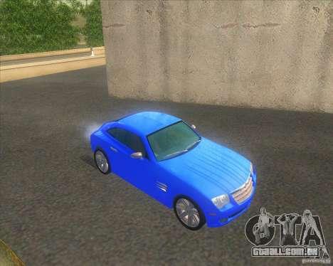 Chrysler Crossfire para GTA San Andreas vista direita