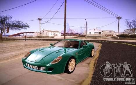 Ferrari 599 GTB Fiorano 2010 para GTA San Andreas