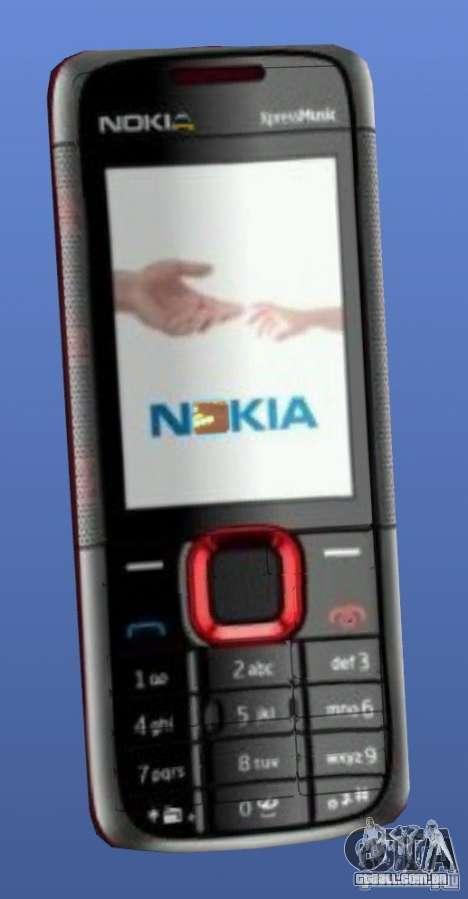 Telefone celular Nokia 5130 Xpressmusic para GTA 4