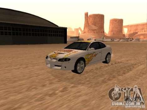 Vauxhall Monaro para GTA San Andreas vista inferior