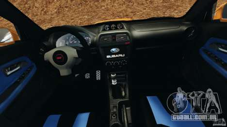 Subaru Impreza WRX STI 2005 para GTA 4 vista de volta