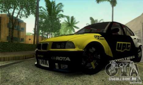 BMW E36 Urban Perfomance Garage para GTA San Andreas vista interior