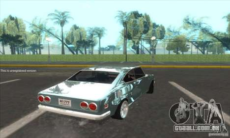 Mazda RX-2 2-door Coupe US para GTA San Andreas esquerda vista