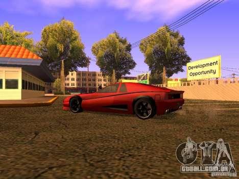 New Cheetah para GTA San Andreas traseira esquerda vista