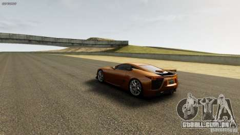 Lexus LF-A para GTA 4 vista de volta