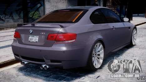 BMW M3 E92 stock para GTA 4 motor