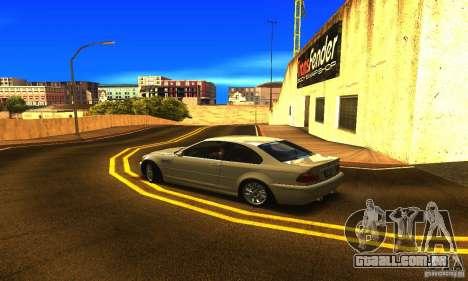 BMW M3 Tuneable para GTA San Andreas esquerda vista