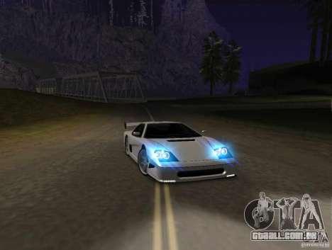 Azik Turismo para GTA San Andreas esquerda vista