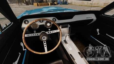 Ford Mustang Customs 1967 para GTA 4 vista lateral