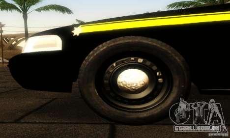 Ford Crown Victoria Montana Police para GTA San Andreas vista direita